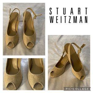 Stuart Weizman Open Toe Wedges